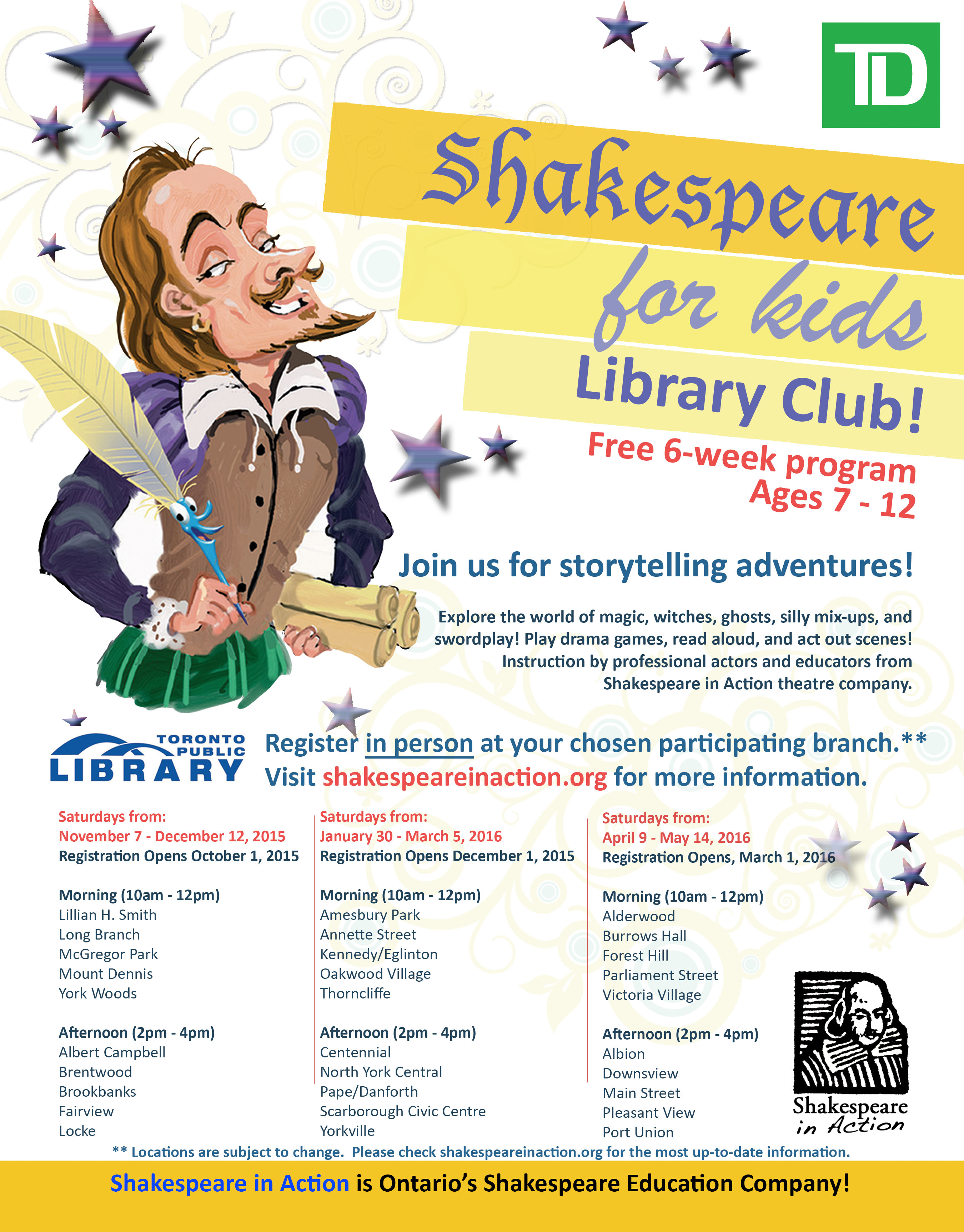 Shakespeare for Kids Library Club