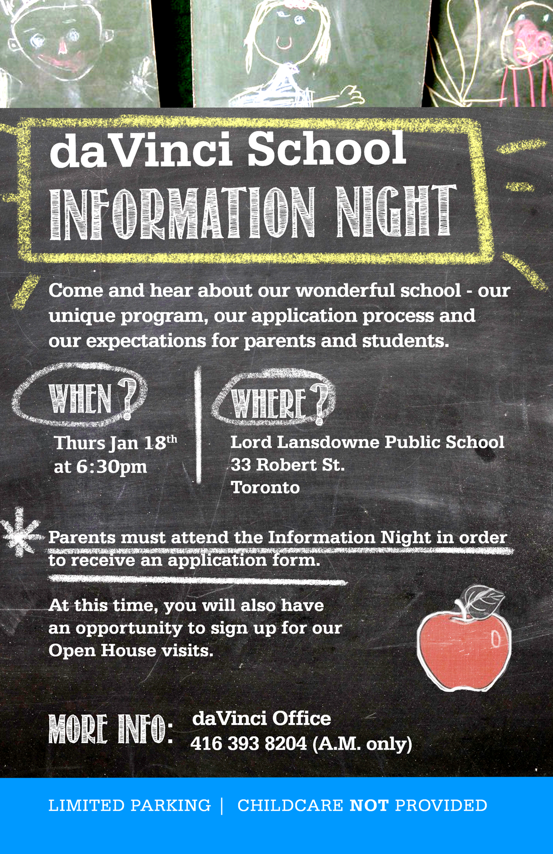 davinci info night Jan 18th